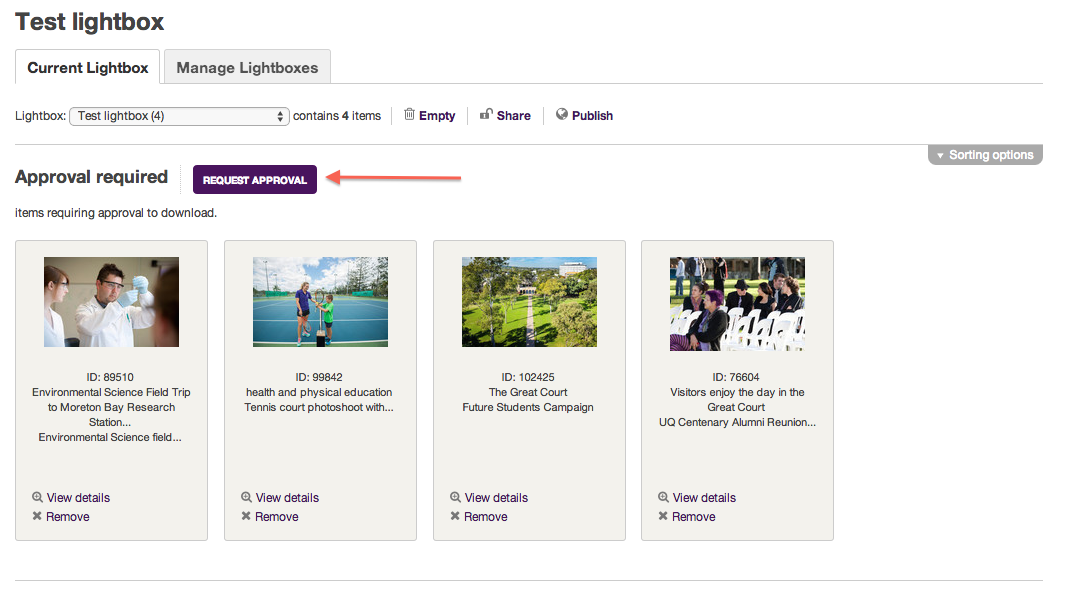 Access the UQ Images database